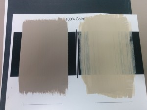 Fusion's amazing coverage compared to another leading brand shows how our finely ground mineral pigment makes all the difference! fusionmineralpaint.com