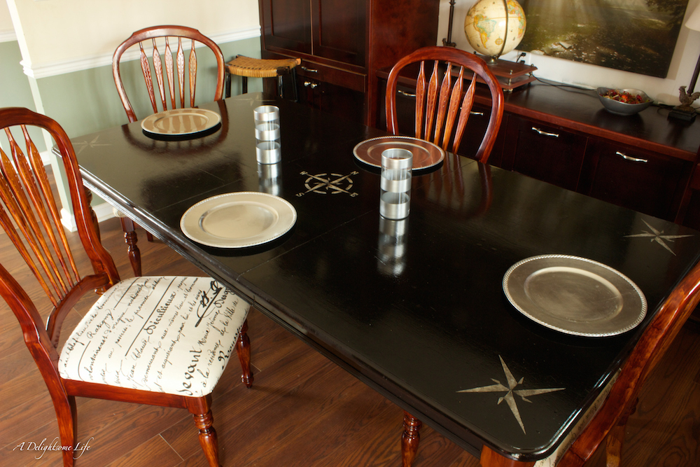 From Farmhouse Country To Elegant Black, This Dining Table Transformation  Is Beautiful! Fusionmineralpaint.com