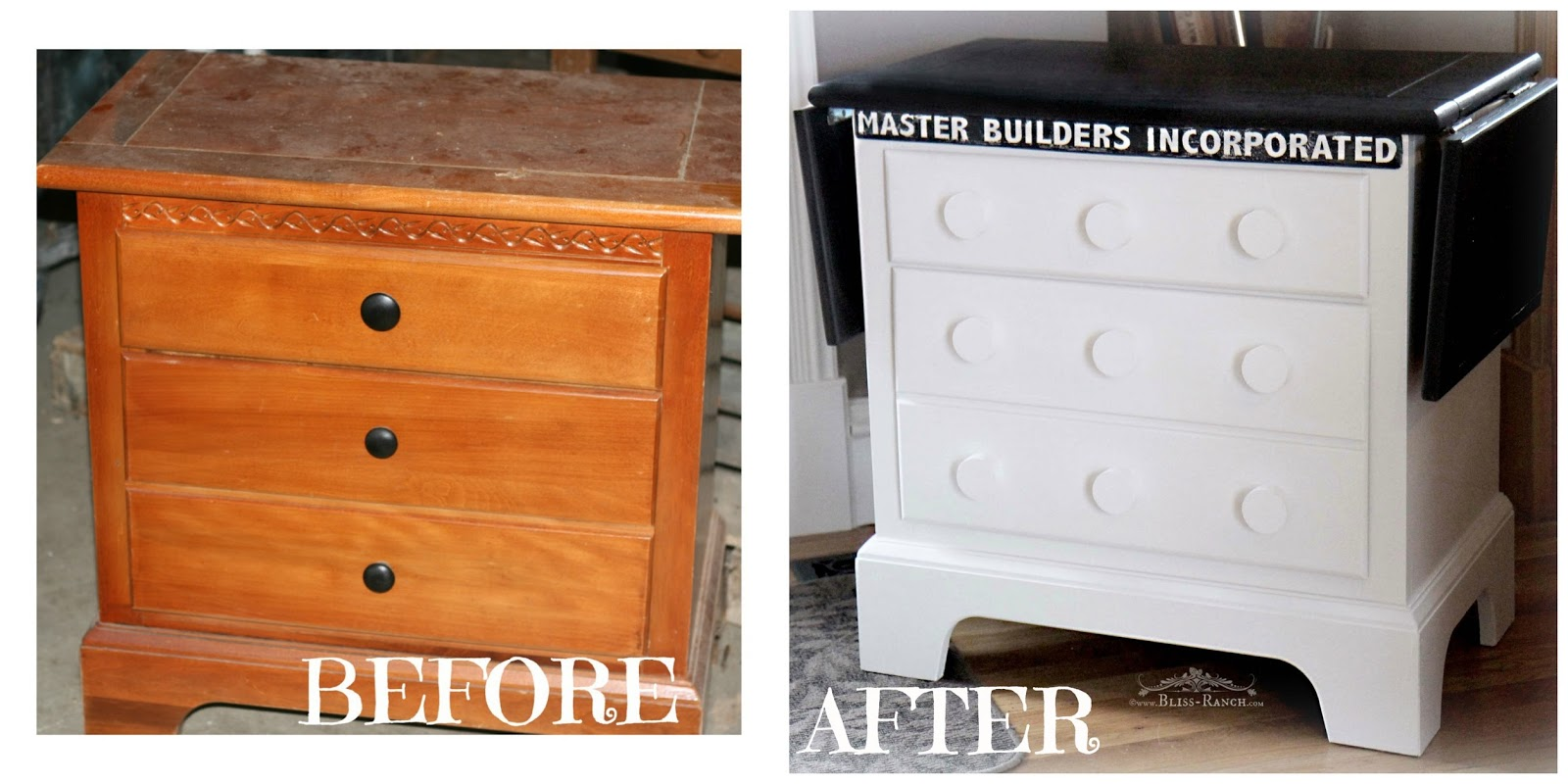 Table Nightstand Up Cycle Fusion Mineral Paint