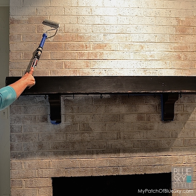 A Dreary Brick Fireplace Gets A Fabulous New Look Using Fusion Mineral Paint