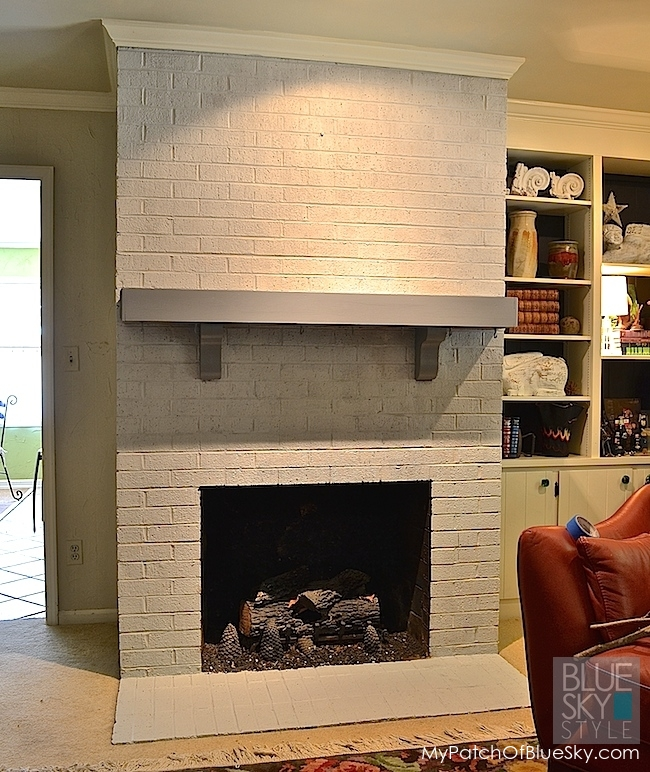 A Dreary Brick Fireplace Gets Fabulous New Look Using Fusion Mineral Paint