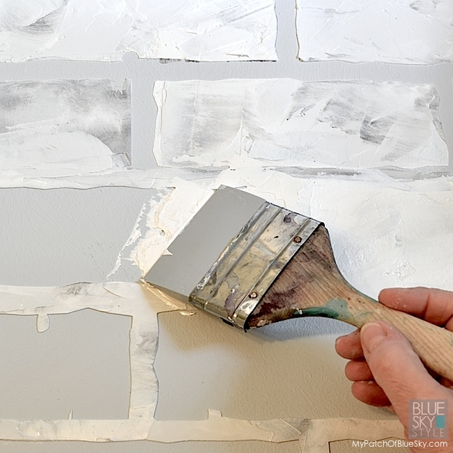 How to create a faux brick wall fusion mineral paint for Mineral wall