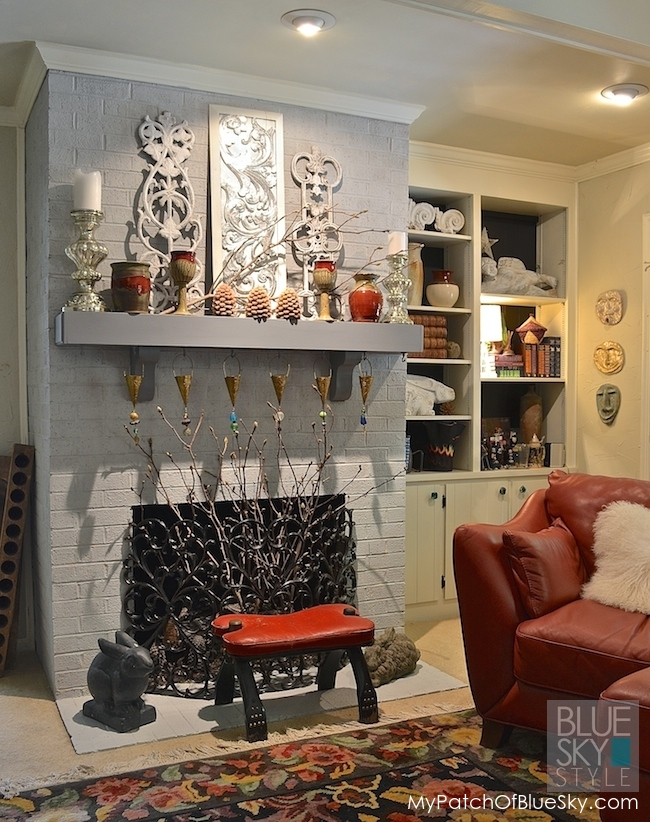 how to paint a brick fireplace fusion mineral paint. Black Bedroom Furniture Sets. Home Design Ideas