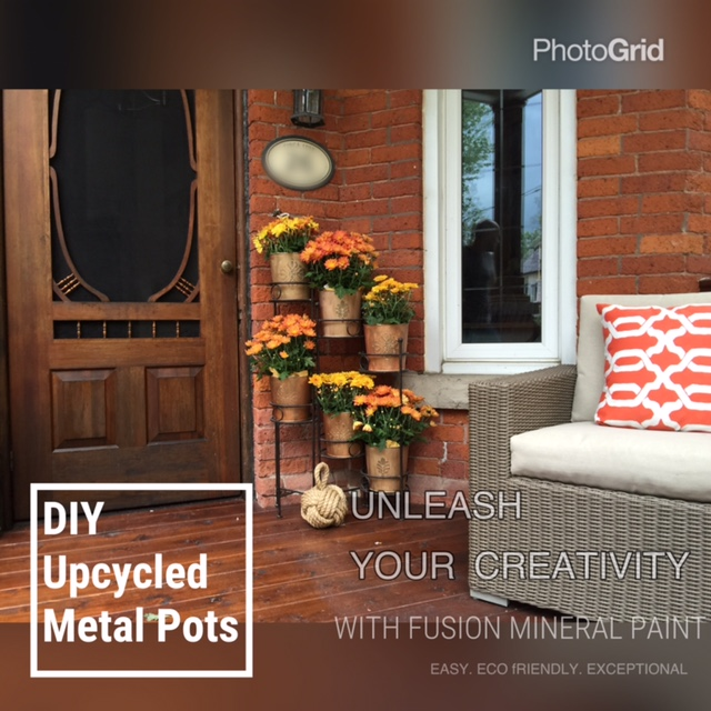 Painting Metal with Fusion™ Mineral Paint for a whole new look! 5