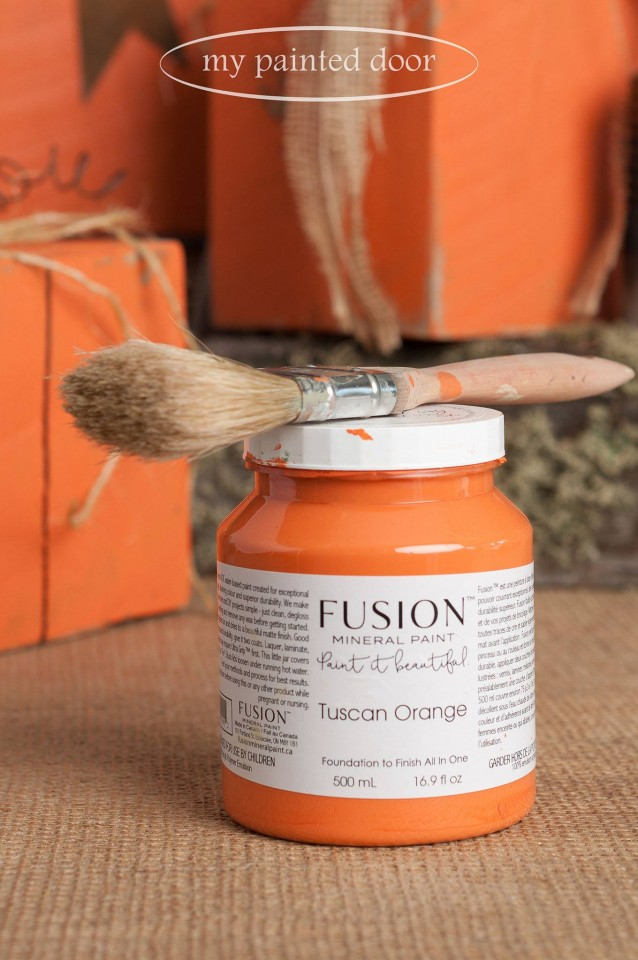 My Painted Door Shares Some Of Their Work With Fusion S Tuscan Orange So Pretty