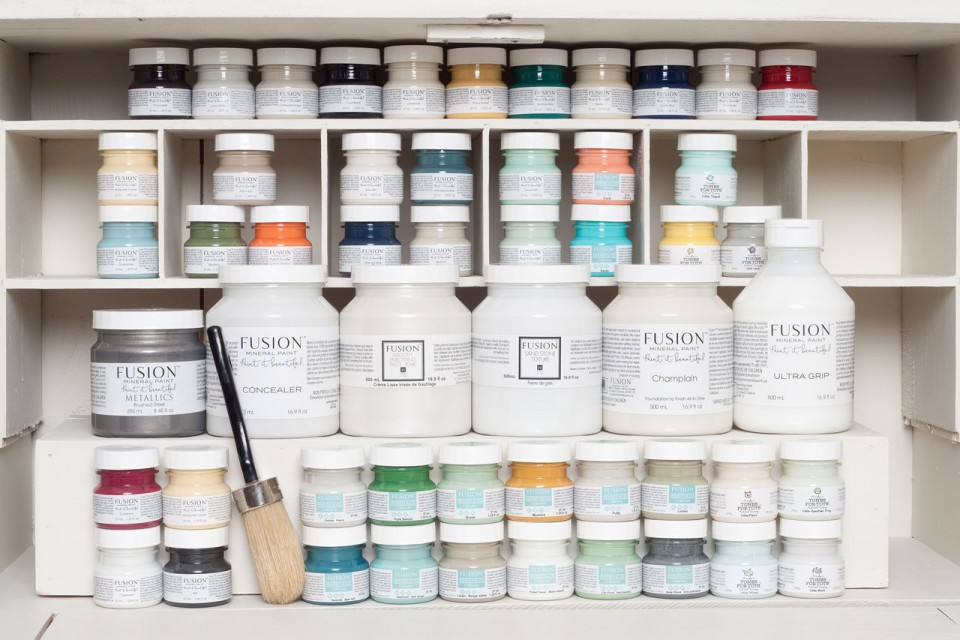Shelf envy! What does your work space look like!?  fusionmineralpaint.com