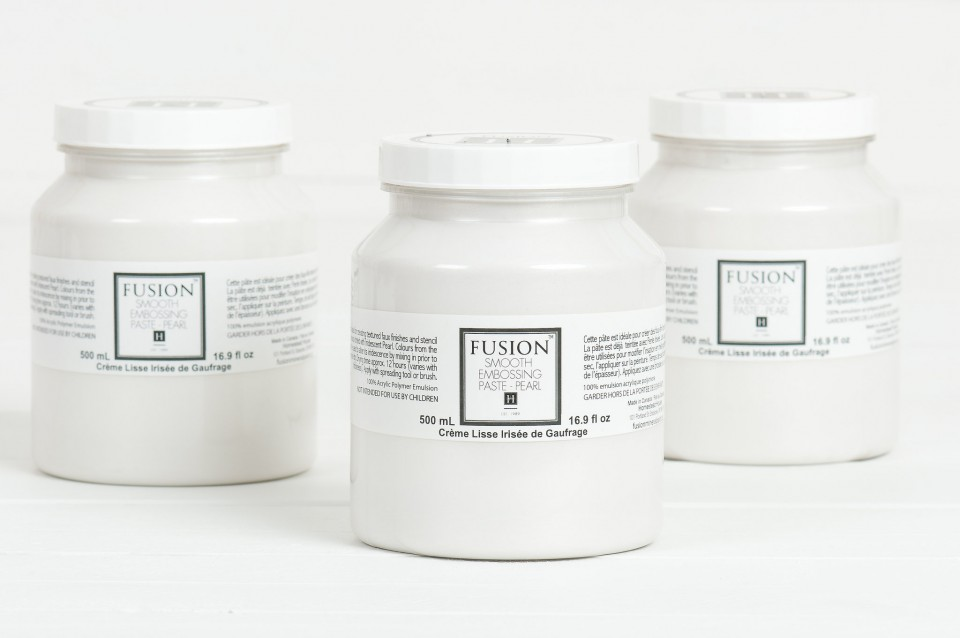 Smooth Embossing Paste -Pearl. | fusionmineralpaint.com
