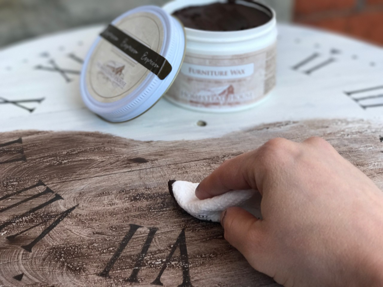Adding dark wax can feel scary, but this will wipe right back to a beautifully aged finish. | fusionmineralpaint.com