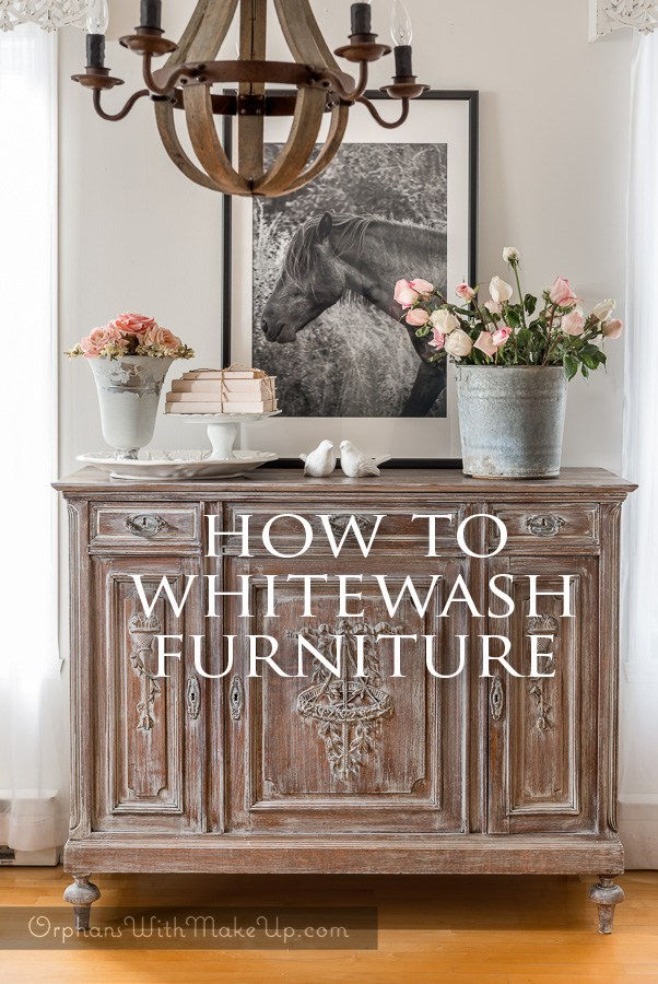 White Wash Furniture with Fusion Mineral Paint by Orphans with Meke Up