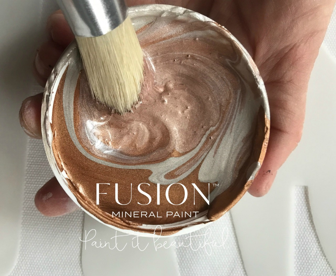 Rose Gold Custom Paint Colour Blend with Fusion Mineral Paint. fusionmineralpaint.com
