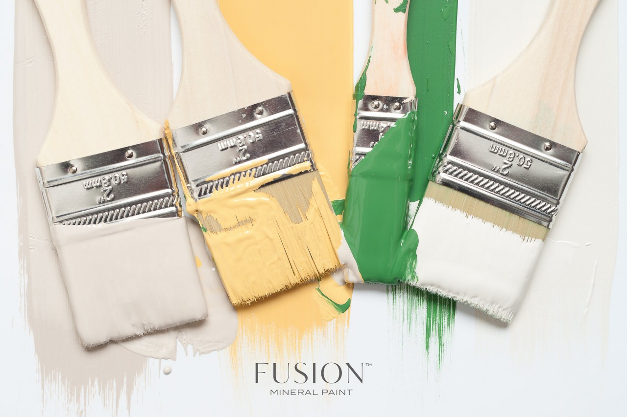 how to clean fusion mineral paint brushes