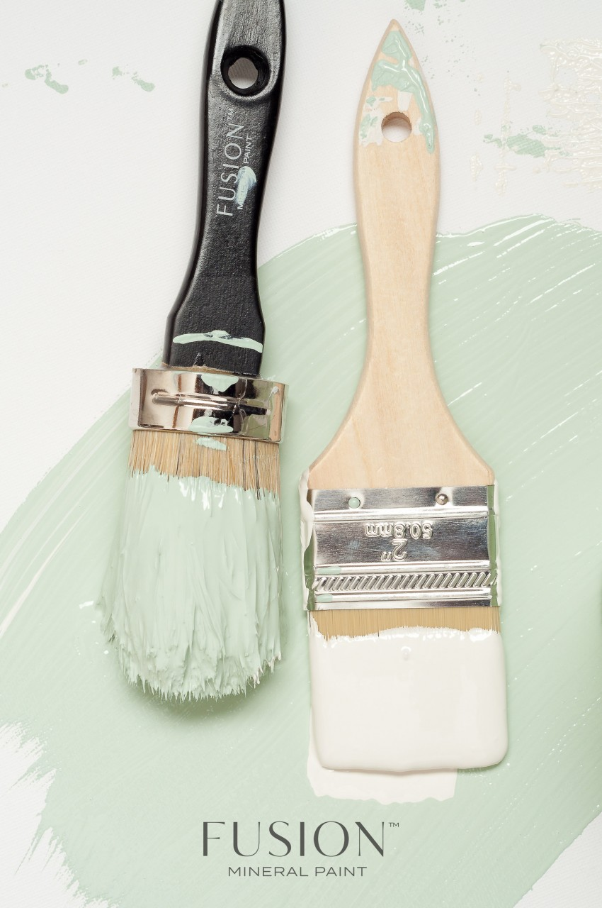 Fusion Mineral Paint Brushes look gorgeous and help you paint it beautiful!