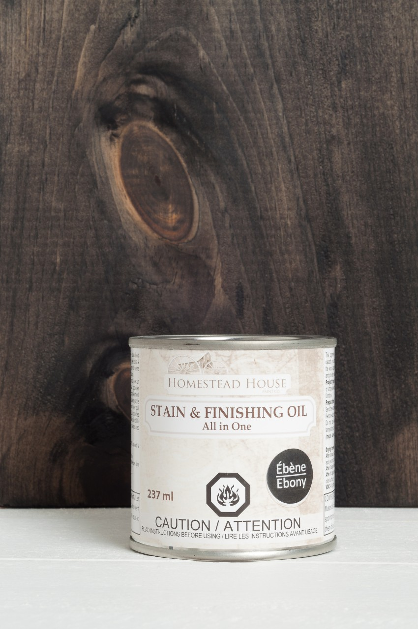 Ebony Black Color Stain & Finishing Oil All in One Top Coat by Fusion Mineral Paint is Eco Friendly with beautiful coverage that is exceptionally durable. 6 Colors to choose from that are eco friendly and easy to use!