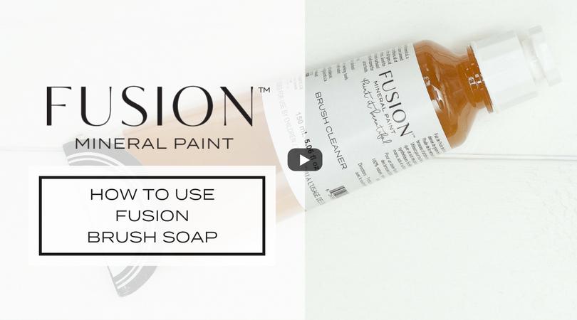 How To Use Fusion Brush Soap. fusionmineralpaint.com