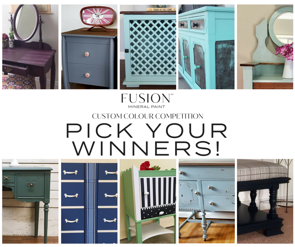 Pick your winners for the Fusion Mineral paint Colour Competition