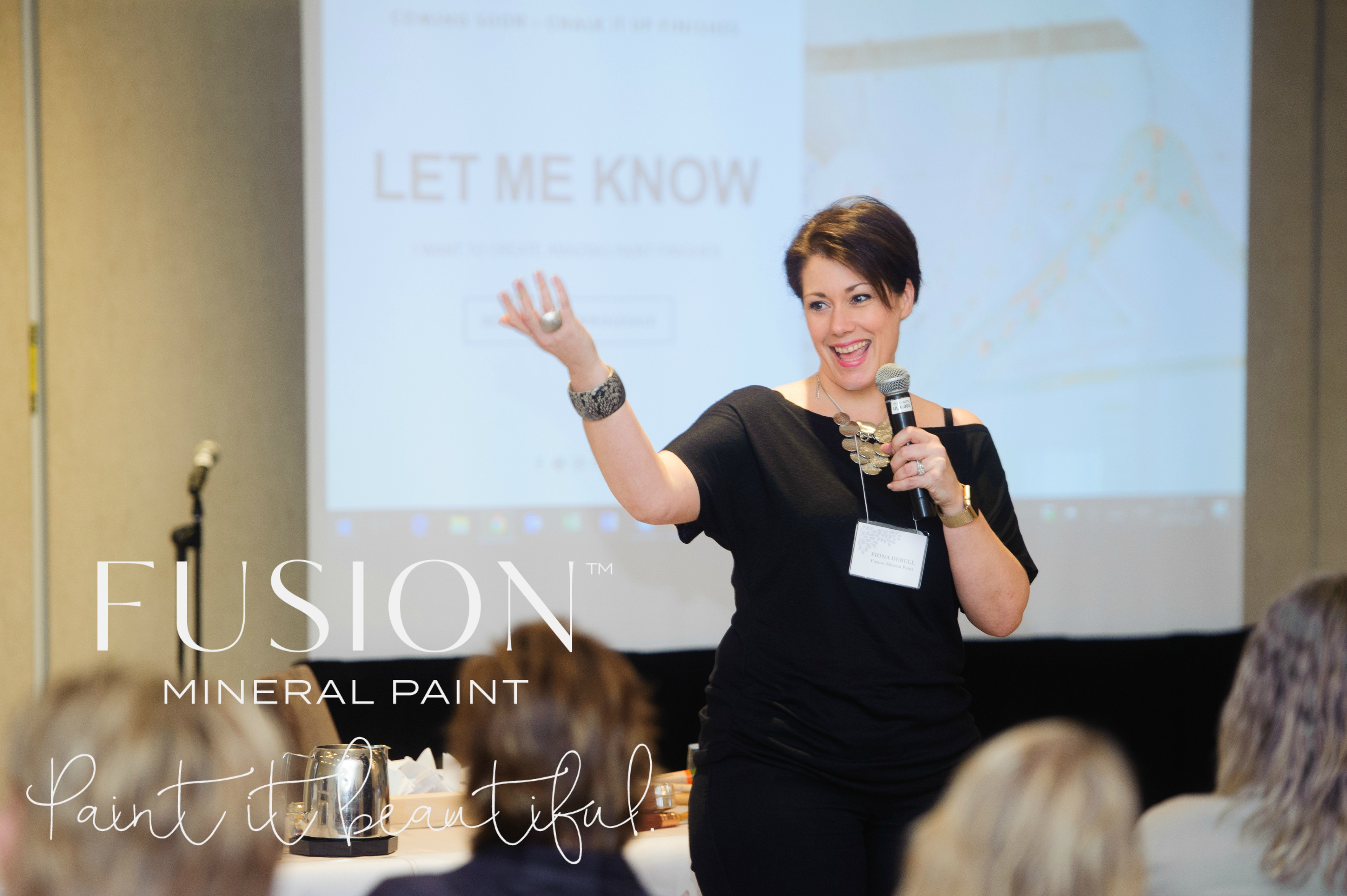 Educator Fiona DeBell for Fusion Mineral Paint Merchant Conference and Retreat at Adamo Winery and Hockley Valley Resort and Spa. Become a Retailer today and enjoy these fabulous Merchant only benefits!