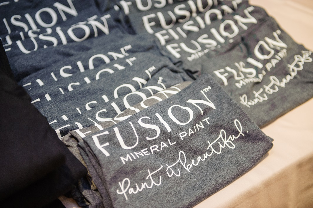 Swag from our Retreats is awesome! Check out these Fusion Mineral Paint T-Shirts!