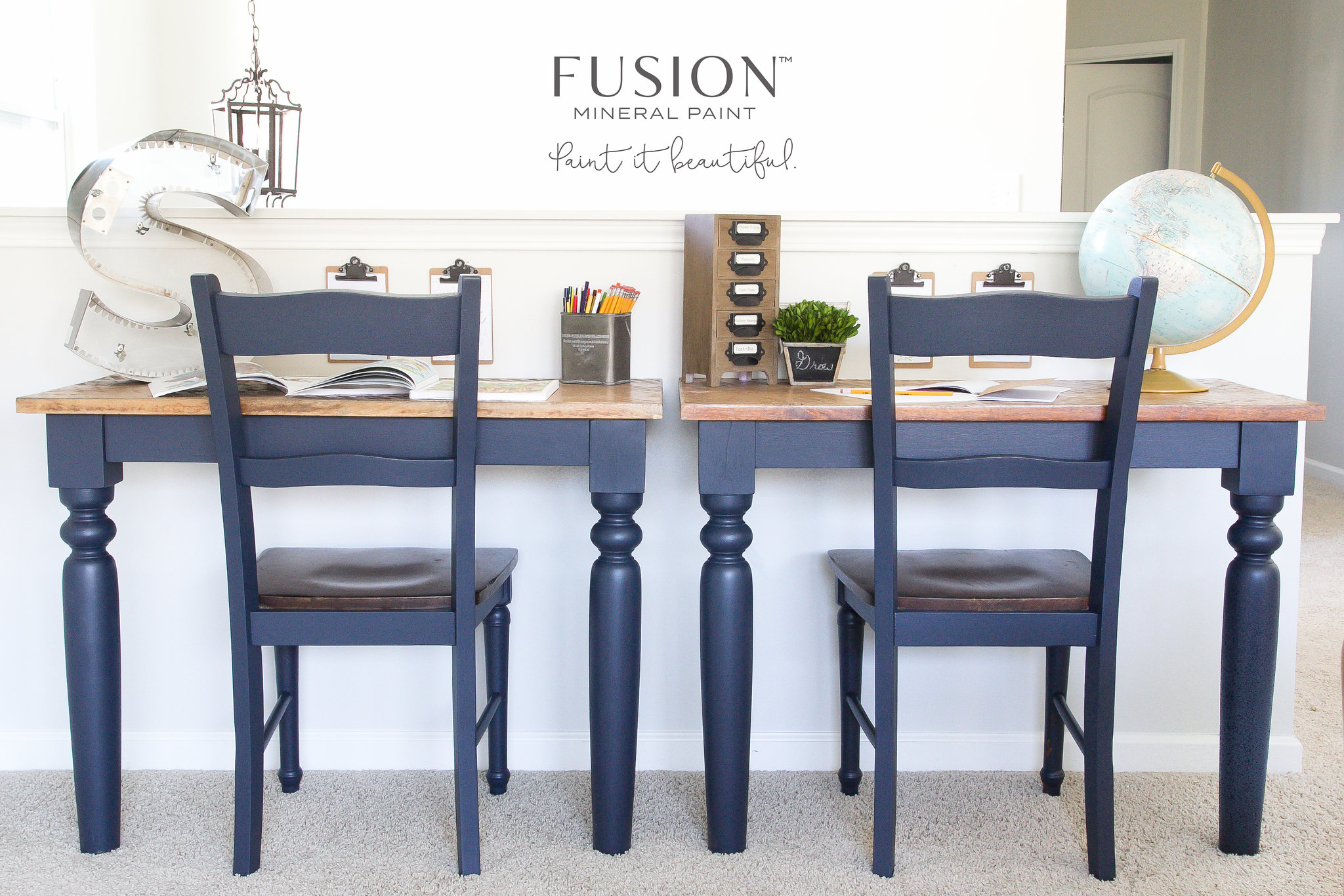Shabby Chic to Mid Century Modern Sleek • Fusion™ Mineral Paint