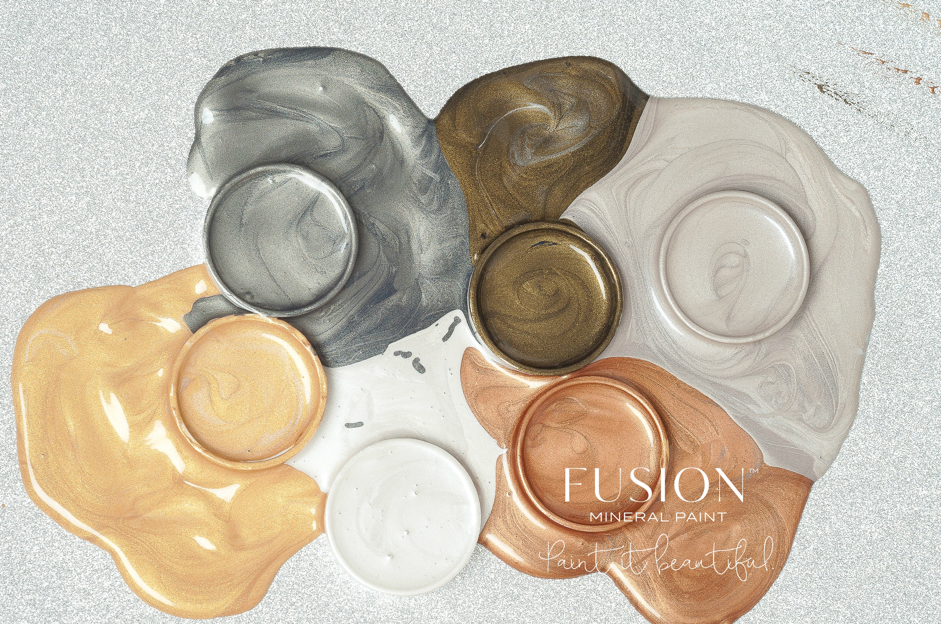 6 Metallic Paint colors to choose from