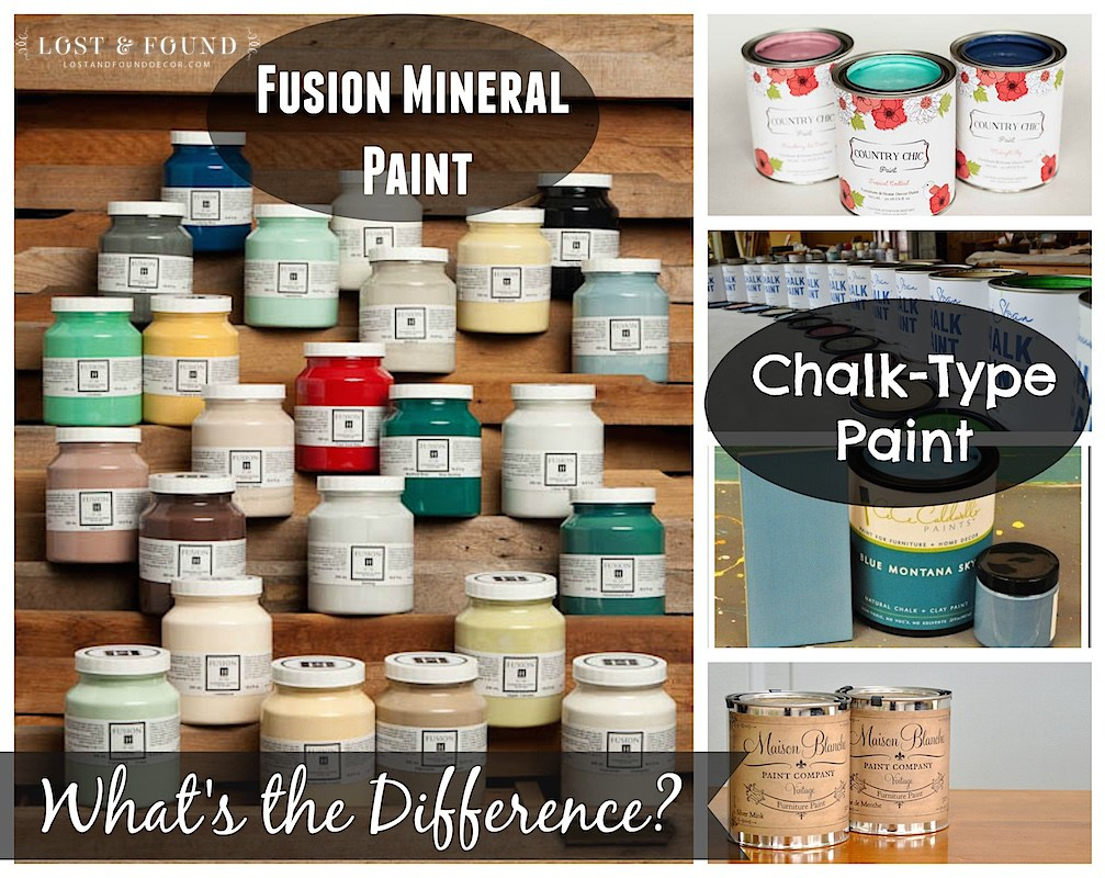 What's the difference between Fusion Mineral Paint and Chalk Type Furniture Paint