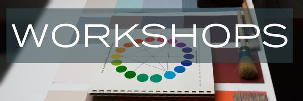 colour wheel with 'Workshops' Overlaid. | fusionmineralpaint.com