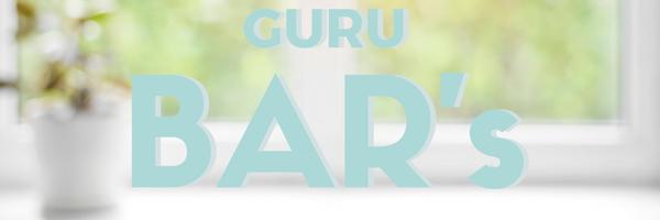 Guru Bar text over a blurred item of furniture. | fusionmineralpaint.com