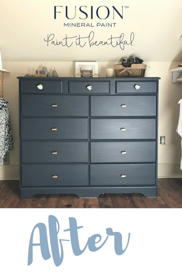 After, midnight blue dresser. | fusionmineralpaint.com