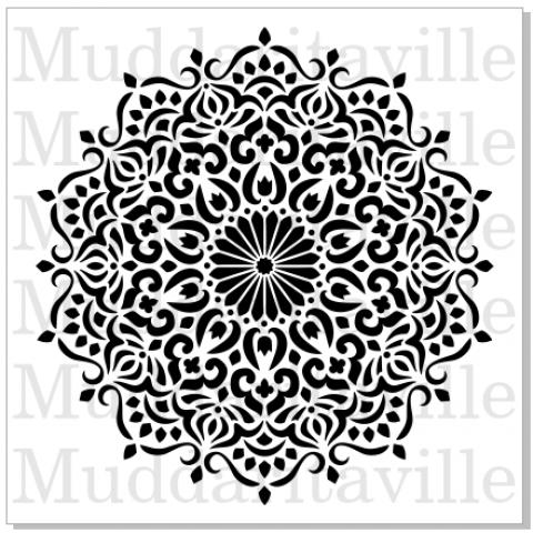 Manadal Stencil design from Muddaritaville. |www.muddaritavillestudio.com