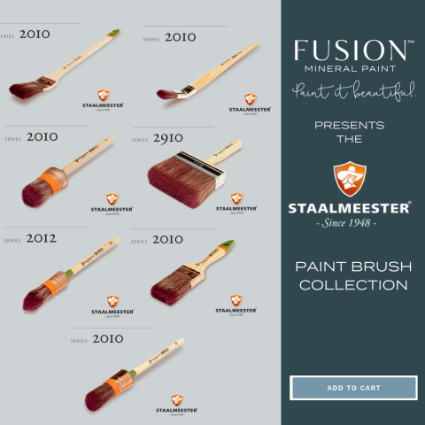 the Staalmeester Fusion Brush Collection. | fusionmineralpaint.com