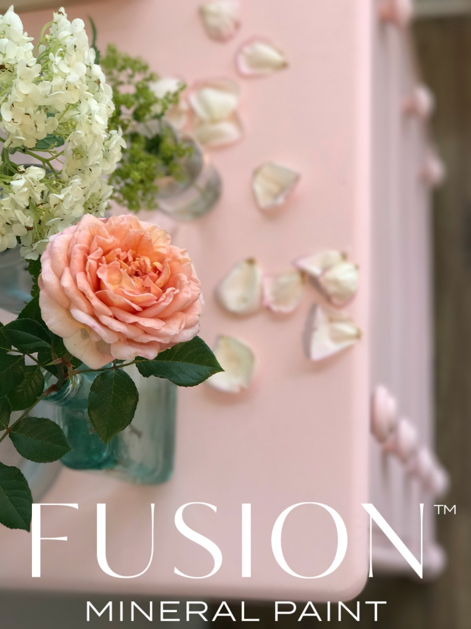 Dusky pink rose inspiring the new Pink from the Penney & Co collection from Fusion. | fusionmineralpaint.com