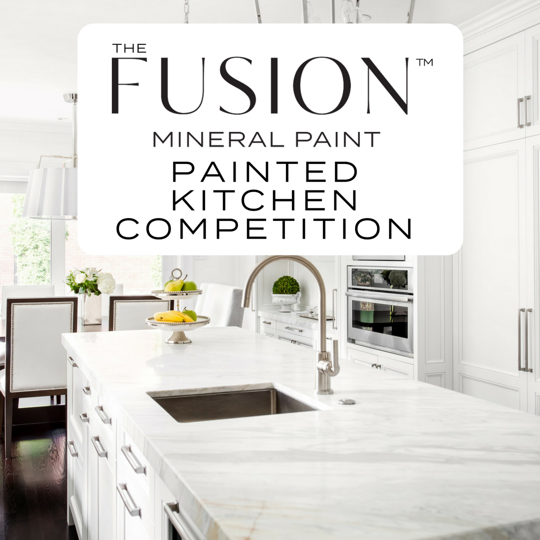 Fusion August Painted Kitchen COPmpetition. | fusionmineralpaint.com