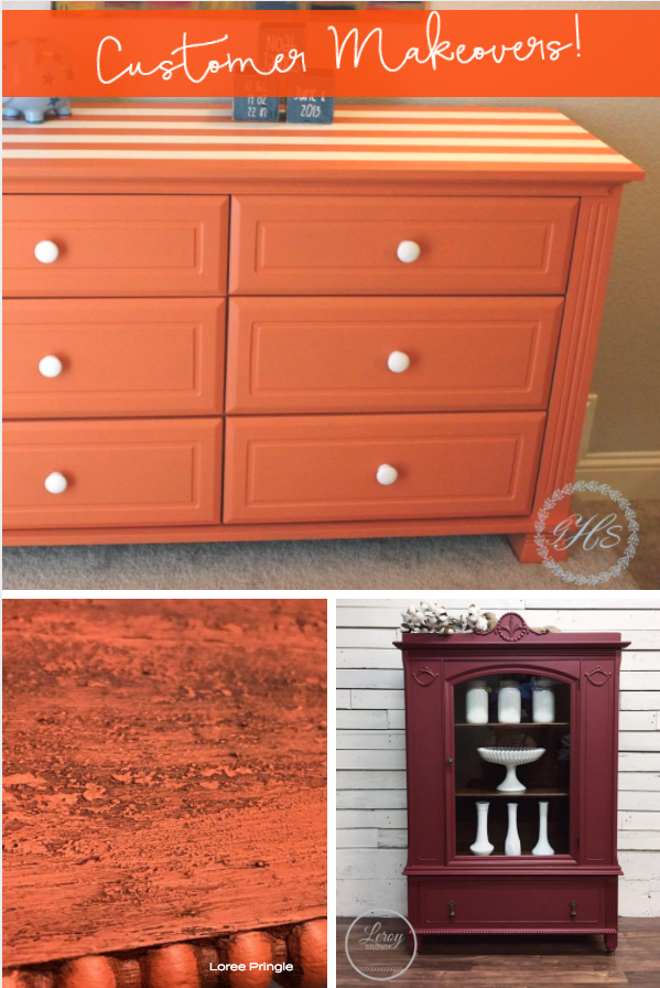Excellent work from Peggy Lyndem and my Mom, Loree Pringle, using Tuscan Orange, and a lovely take on Cranberry from Leroy Brown. | fusionmineralpaint.com