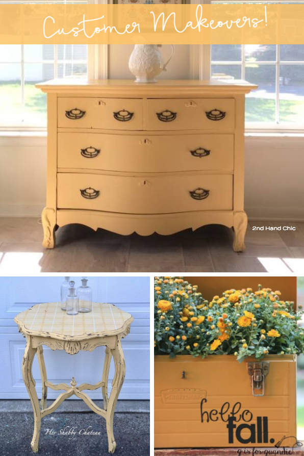 Look at some of these fantastic yellow shade makeovers from some of our Fusion Customers. | fusionmineralpaint.com
