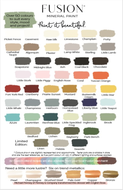 Paint Job Cost >> Vote for our New Colour Card Cover! • Fusion™ Mineral Paint