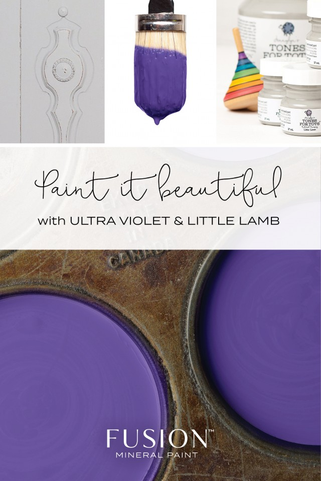 Ultra Violet + Little Lamb by Fusion Mineral Paint