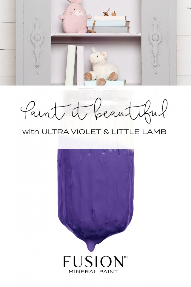 Little Lamb and Ultra Violet from Fusion Mineral Paint - the PERFECT palette