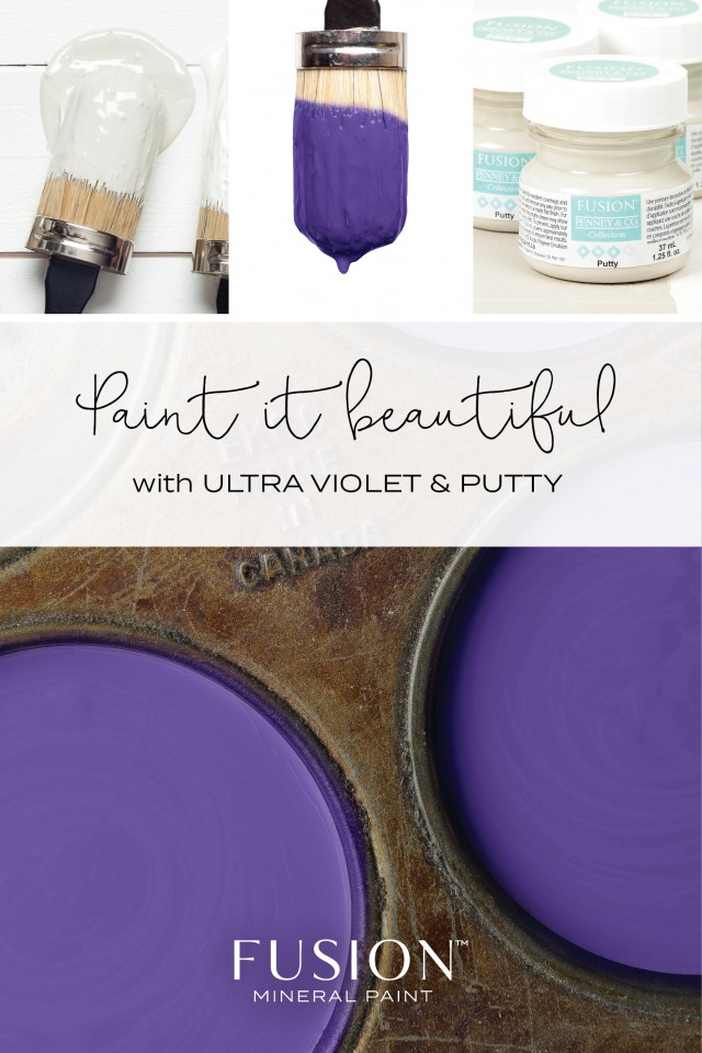 Ultra Violet and Putty - Fusion Mineral Paint
