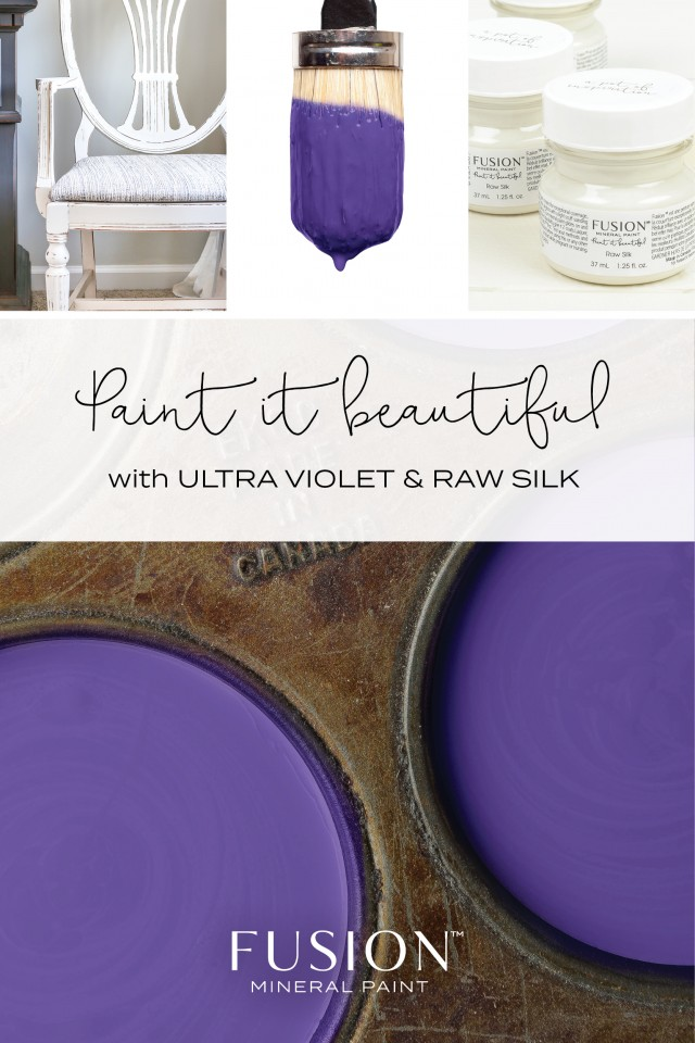 Fusion Custom Blend of the Pantone Color of the Year Ultra Violet paired with Raw Silk