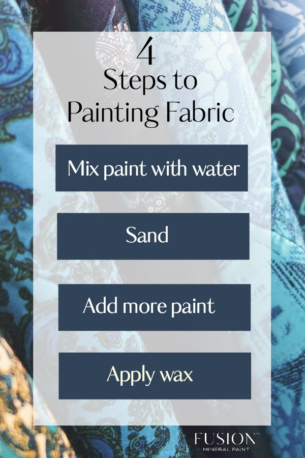 chart on how to paint fabric