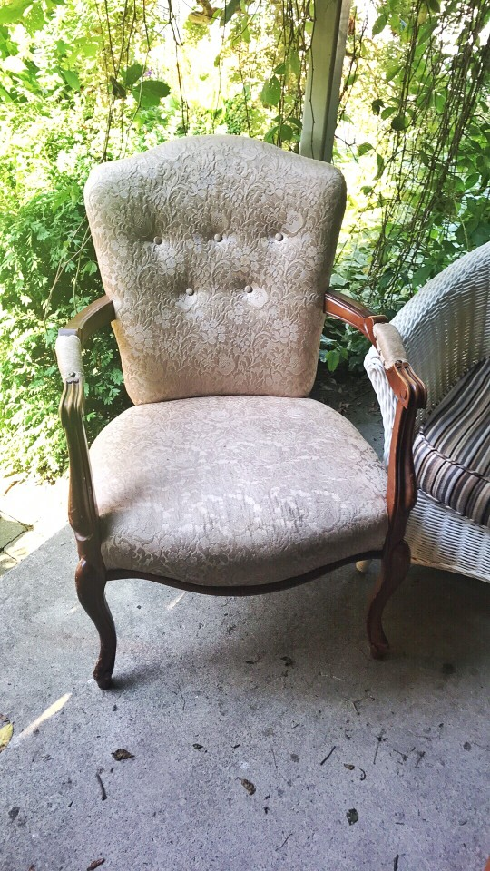 vintage chair that is dirty