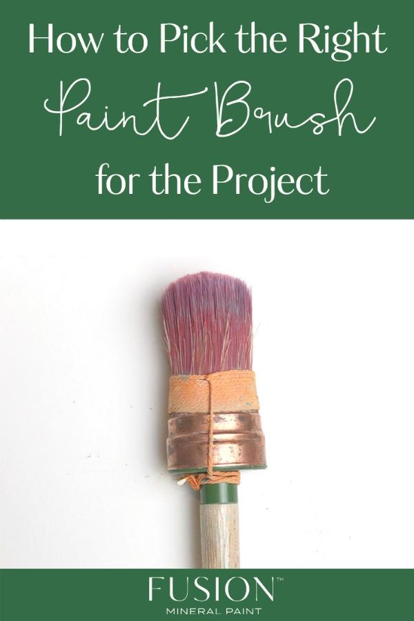 paint brush laid flat