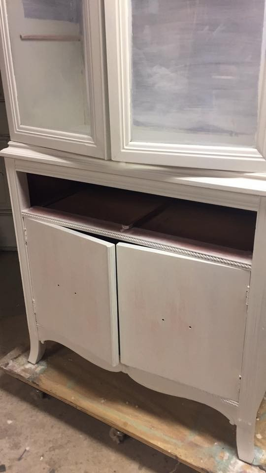 painted furniture with bleed thru