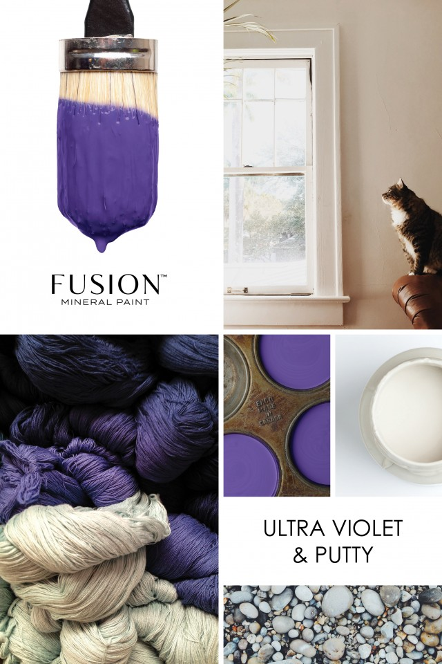 collage with pantone color of the year
