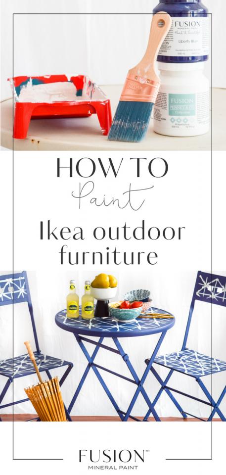 diy ikea patio table fusion mineral paint. Black Bedroom Furniture Sets. Home Design Ideas