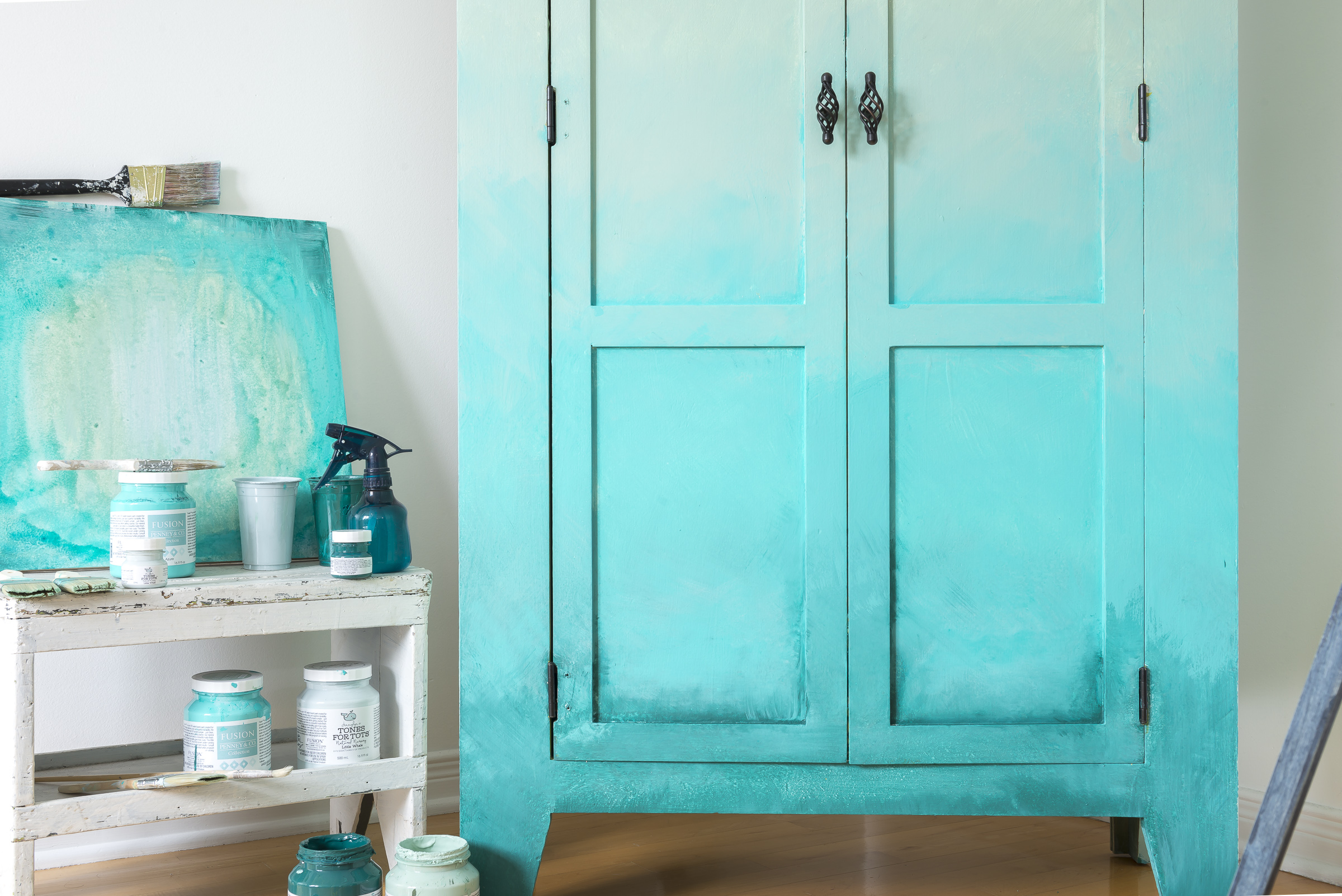 How To Blend Paint Create An Ombré Effect