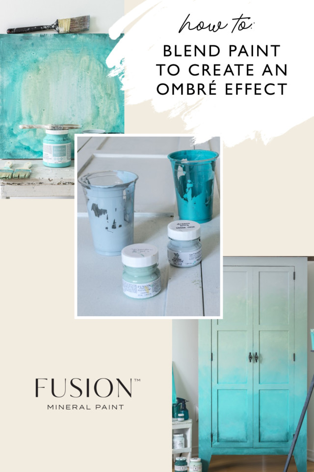 How To Blend Paint To Create An Ombre Effect Fusion Mineral Paint