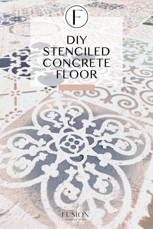 stencilled floor with paint