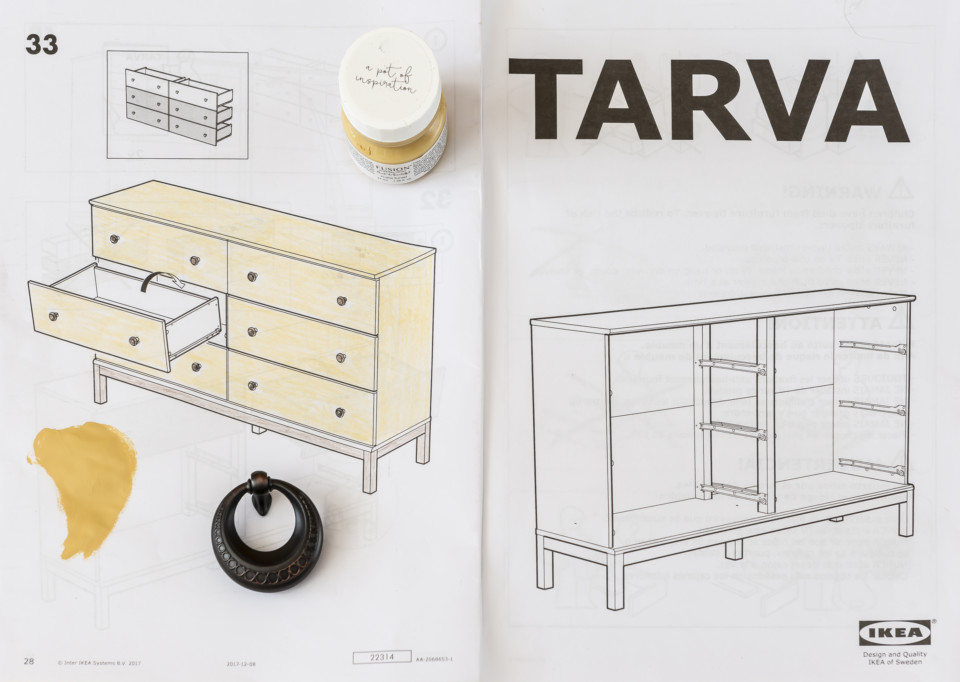 How to paint an IKEA TARVA dresser with Fusion Mineral Paint