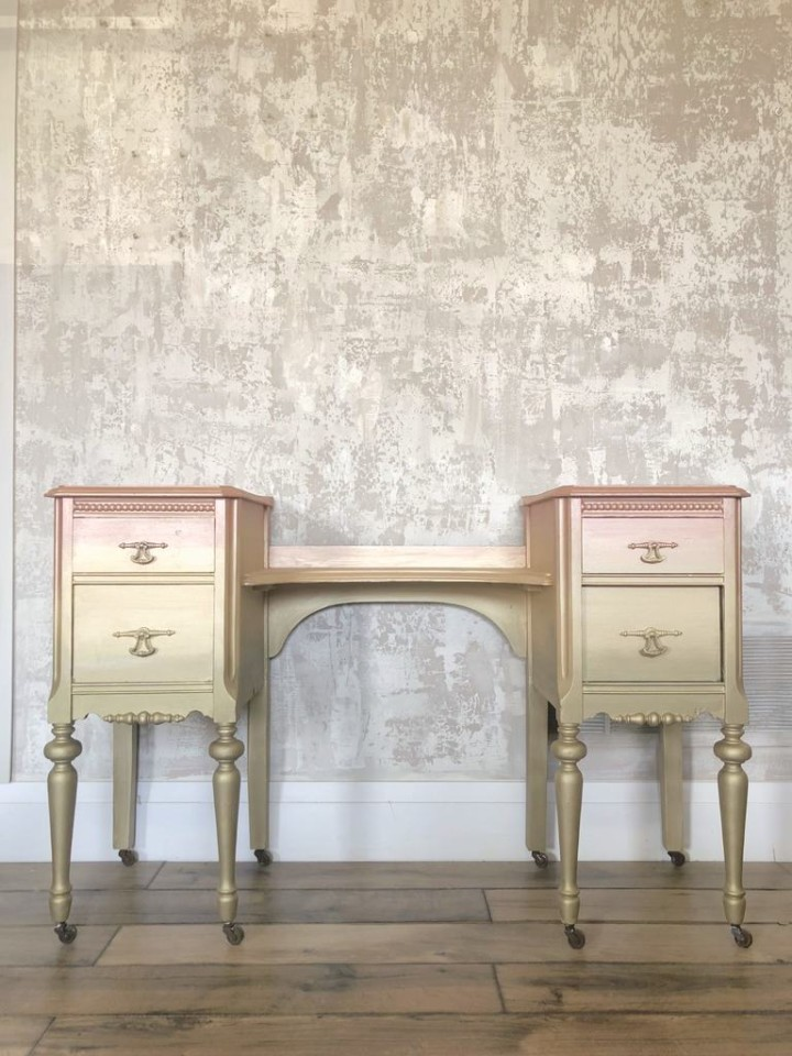 Have You Ever Painted Anything Using Our Metallics Or In An Ombré Design What About A Blended Paint Piece Of Furniture Share Them With Us It