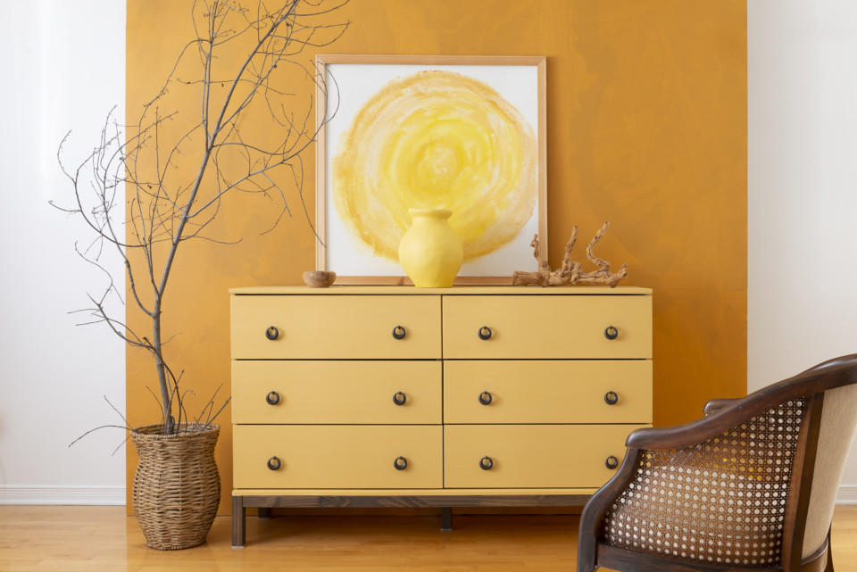 IKEA TARVA dresser painted with Fusion Mineral Paint in Prairie Sunset